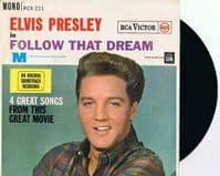 ELVIS PRESLEY Follow That Dream EP Vinyl Record 7 Inch RCA 1962